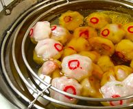 Hsinchu köttbullar, de berömda gourmet- mellanmålen I Royaltyfria Bilder