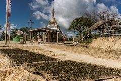Hsipaw, Мьянма Стоковые Фотографии RF