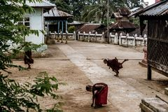 Hsipaw, Myanmar stock afbeelding
