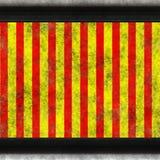 Hsl red yellow grunge hazard straight vector illustration