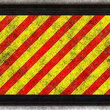 Hsl red yellow hazard Royalty Free Stock Image