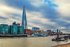HSM Belfast and Shard in London, UK. Royalty Free Stock Photo