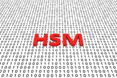 HSM. In the form of binary code, 3D illustration Royalty Free Stock Photos