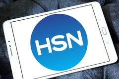HSN, логотип сети домашних покупок Стоковое Изображение RF