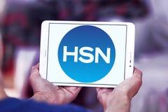 HSN, логотип сети домашних покупок Стоковые Фотографии RF
