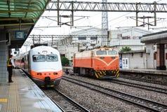 HSR train at station in Taipei, Taiwan Royalty Free Stock Photos