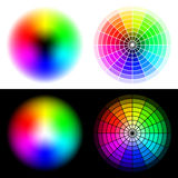 RGB color wheels Royalty Free Stock Photography