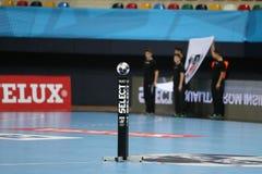HT Besiktas MOGAZ и спичка гандбола Dinamo Bucuresti Стоковая Фотография RF