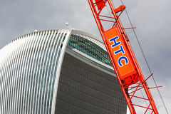 HTC厂起重机,伦敦 库存照片