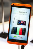 HTC DESIRE 816, MOBILE WORLD CONGRESS 2014 Stock Photo