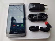 Htc one m9 gray colour. Gray colour htc one m9 very interesting Stock Images