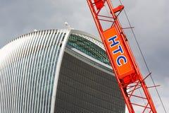HTC Plant Crane, London Construction Industry Stock Photos