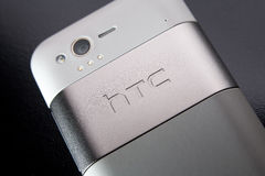 Htc smartphone. Back view of a HTC smartphone Stock Image