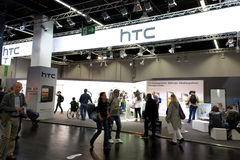 HTC Smartphone maker at Photokina 2012 Royalty Free Stock Photography