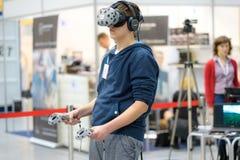 HTC VIVE - sistema di realtà virtuale Immagini Stock Libere da Diritti