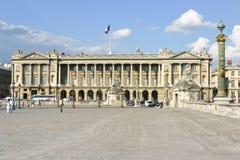 Hotel de la marine at Paris Concorde Stock Photos