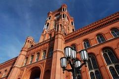 Hôtel de ville rouge à Berlin Images stock