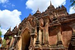 Htilominlo寺庙是佛教寺庙在Bagan (以前异教徒),在缅甸 库存图片
