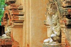 Htilominlo寺庙菩萨图象, Bagan,缅甸 免版税库存照片
