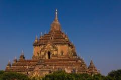 Htilominlo寺庙,在缅甸(Burmar)的Bagan 库存照片