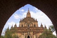 Htilominlo寺庙, Bagan缅甸 免版税库存图片
