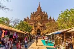 Htilominlo寺庙Bagan 库存图片