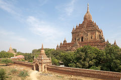 Htilominlo Templa, Bagan,缅甸 免版税库存图片