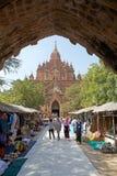 Htilominlo Templa, Bagan, Myanmar Fotografía de archivo