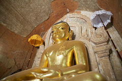 Htilominlo Templa, Bagan, Myanmar Royaltyfri Fotografi