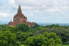 Htilominlo temple reconstruction after big earthquake, Bagan, Ma Royalty Free Stock Photography