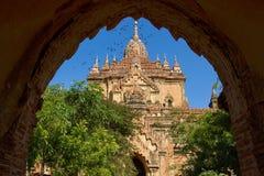 Htilominlotempel, Baksteentempels in Bagan Stock Afbeelding