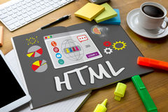 HTML全球性通信软件互联网网发展鳕鱼 免版税图库摄影