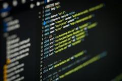 HTML和CSS代码 库存照片