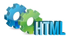 HTML工业齿轮概念 库存照片