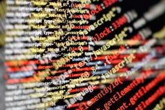 Html开发商和设计师的网络设计代码 免版税库存照片