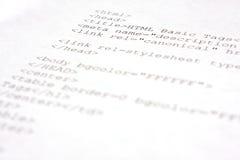 HTML来源代码- HTML 5 免版税库存照片