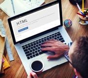 HTML网站互联网设计内容概念 免版税库存照片