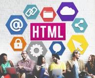 HTML网站技术主页概念 库存照片