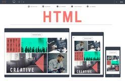 HTML网络编制程序网站互联网概念 免版税库存图片