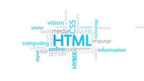 HTML,印刷术动画 皇族释放例证