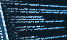 HTML κώδικα υπολογιστών Στοκ φωτογραφία με δικαίωμα ελεύθερης χρήσης