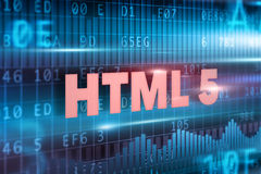 HTML 5 на классн классном Стоковая Фотография RF