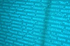 HTML代码 免版税库存图片