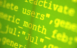 HTML代码 免版税图库摄影