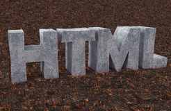 HTML. Logo HTML for webmasters and web sites Royalty Free Stock Images