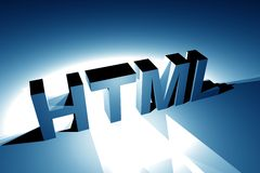 HTML 3D Illustration Stock Photo