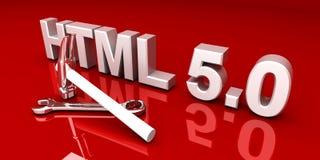 HTML 5.0 Tools. 3D rendered Illustration vector illustration