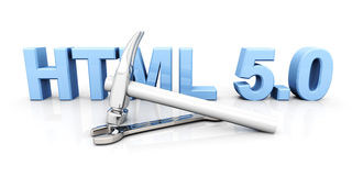 HTML 5.0 Tools Stock Photo