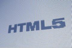 HTML 5 d'étiquette de Digitals Images stock