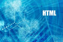 HTML. Coding Language Abstract Background with Internet Network Stock Image